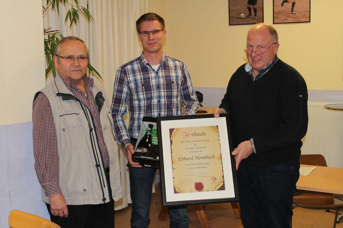 Erhard Hombach wurde zum Ehrenvorsitzenden der Abteilung ernannt.