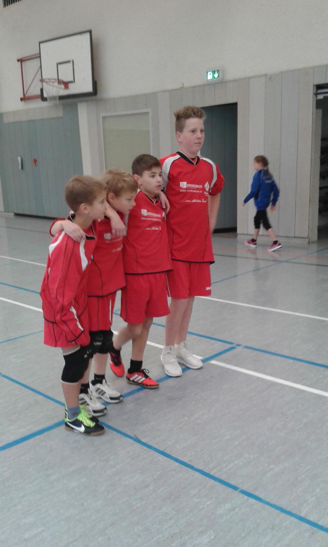 Die Mannschaft vor dem Spiel