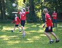 Lukas Halbe, Jan Brendebach, Paul Schroeter, Trainer Sören Ebel