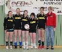 Lilly Schuh, Pia Thiel, Lisa Kudlik, Anna Rommersbach, Selina Pees, Trainerin Josefine Pfeifer